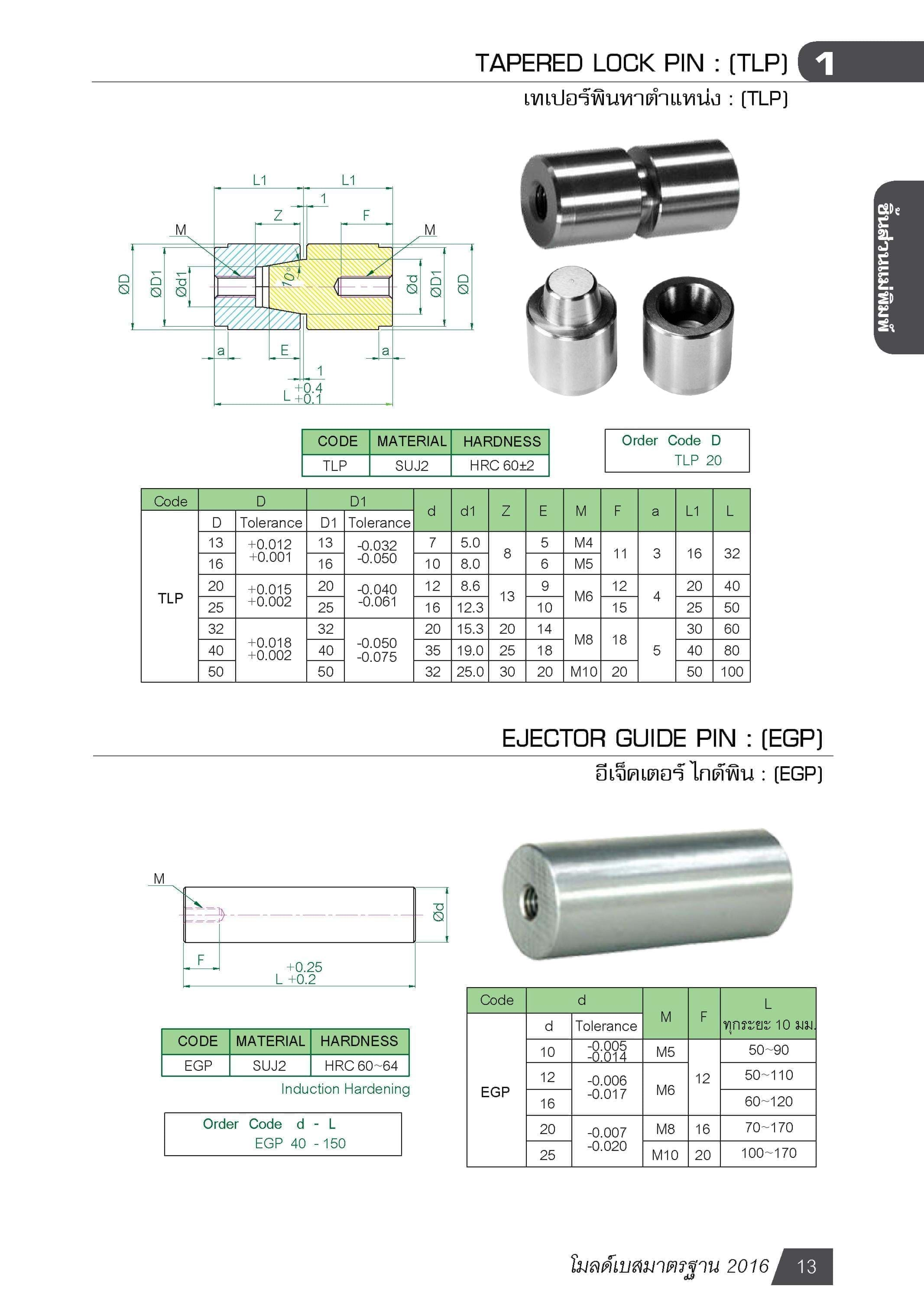 EJECTOR GUIDE PIN : (EGP) MB01302