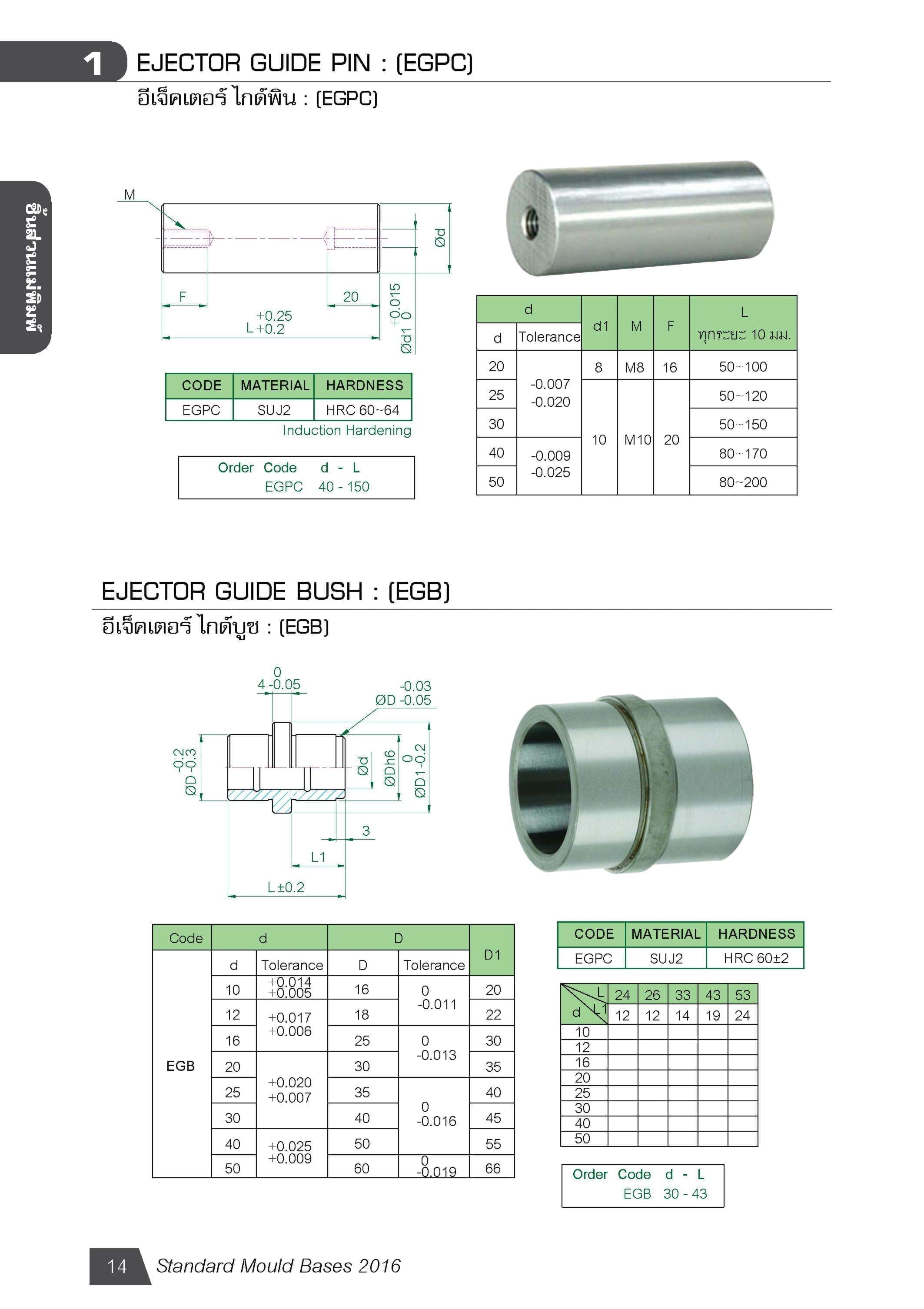EJECTOR GUIDE PIN : (EGPC) MB01401